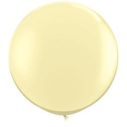 Baloane latex Jumbo 3 ft Ivory Silk Qualatex 43657 1 buc