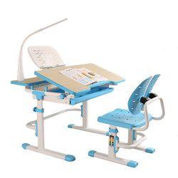 Set complet birou si scaun copii ergonomic reglabil in inaltime ErgoK IVY Albastru