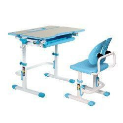 Set birou si scaun copii ergonomic reglabil in inaltime ErgoK IVY Albastru