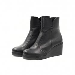 Ghete Dama Iulis Shoes Din Piele Naturala 100 Negru 452 N marimea 41