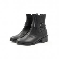 Ghete Dama Iulis Shoes Din Piele Naturala 100 Negru 465 N marimea 36