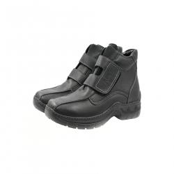 Bocanci Barbati Iulis Shoes Din Piele Naturala 100 Negru 330 N marimea 45