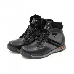 Bocanci Barbati Iulis Shoes Din Piele Naturala 100 Negru 331 N marimea 39
