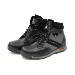 Bocanci Barbati Iulis Shoes Din Piele Naturala 100 Negru 331 N marimea 44