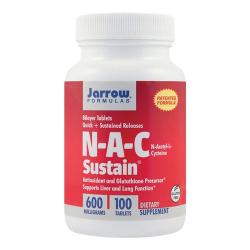 N-A-C Sustain 600mg 100tab eliberare prelungita Bilayer Sustain Jarrow Formulas