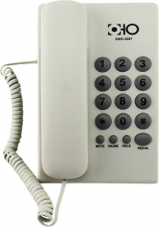 Telefon fix cu fir 16 taste functie Mute Pause Redial Hold Alb OHO Telefoane