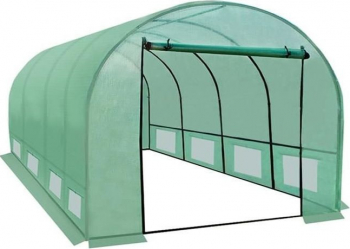 Sera solar pentru gradina 4x3x2 metri 12 mp cadru otel ferestre laterale