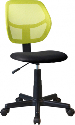 Scaun de birou copii negru/verde Bortis Impex