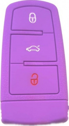 Husa cheie auto din silicon SmartKey SIL 062 VW Passat B6 cu lamela 3 butoane mov