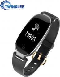 Bratara fitness inteligenta TKY-S3 cu functie de monitorizare ritm cardiac Monitorizare somn Pedometru Notificari Neagra Bratari Fitness