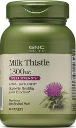 Supliment Alimentar GNC Herbal Plus Milk Thistle 1300 mg Extract Standardizat de Silimarina 60 tb