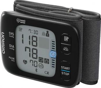 Tensiometru de incheietura Omron RS7 Bluetooth 2 utilizatori 100 de masuratori Negru