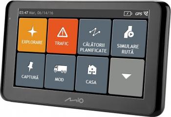 Sistem de navigatie reconditionat Mio Spirit 8500 LM ecran 6.2 Full Europe + actualizari pe viata Navigatie GPS