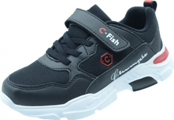 Pantofi sport pentru baieti C-Fish IX47-N Negru 35