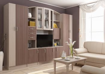 Set Living MACARENA 280x50x200cm Frasin Deschis/Frasin Inchis Seturi mobila living