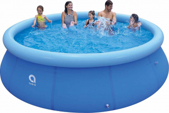 Piscina Avenli pentru copii cu inel gonflabil strat triplu PVC si supapa pentru evacuare apa dimensiuni 360X76cm capacitate 5377L Piscine