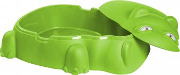 Piscina pentru copii cu capac culoare verde HIPPO POOL - Starplast Piscine