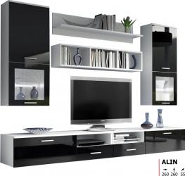Biblioteca CB Alin culoare Negru Seturi mobila living
