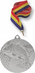 Snur tricolor 11 mm si Medalie Tematica Argint Pescuit