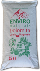 Supliment mineral natural cu concentratie mare de calciu si magneziu dolomita Enviro Naturals 25Kg Pamant flori si ingrasaminte