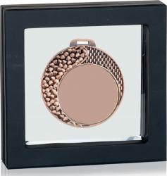 Medalie de Bronz Personalizata 70 mm in Suport de Prezentare de Lux Cupe, trofee si medalii