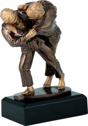 Trofeu Statueta Arte Martiale Judo Personalizat din Rasina 18.5 cm inaltime