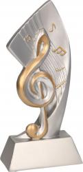 Trofeu Statueta Muzica - Cheia Sol Personalizata 17.5 cm din Rasina