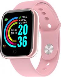 Bratara inteligenta Fitpro Y68 Tracker Fitness Multi sport Cradiac somn puls monitor Ip67 Roz Bratari Fitness