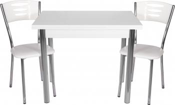 Set masa extensibila 90x60 cu 2 scaune Eco Albe