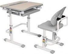 Set de birou si scaun copii ergonomic reglabil in inaltime ErgoK REIA Gri