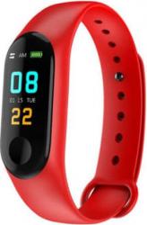 Bratara Fitness M3 cu ritm cardiac si tensiune arteriala pedometru monitorizare calitate somn calorii Smart culoare Rosu Bratari Fitness