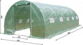 Sera gradina verde structura solida otel zincat 3x8m 24mp premium Sere si Solarii