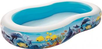 Piscina gonflabila pentru copii Bestway 54118 imprimeu pestisori 262x157x46 cm Piscine