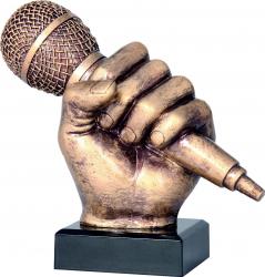 Trofeu Personalizat Muzica Microfon Rotund din Rasina 14 cm Cupe, trofee si medalii