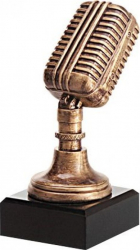 Trofeu Statueta Personalizat Microfon din Rasina 17 cm