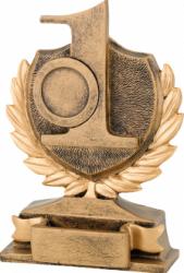 Trofeu Figurina din Rasina Locul 1 cu inaltime 14 cm