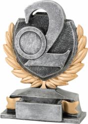 Trofeu Figurina din Rasina Locul 2 cu inaltime 13 cm Cupe, trofee si medalii