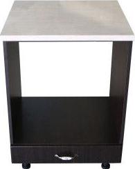 Corp pentru cuptor incorporabil cu sertar Zebra wenge/MDF Wenge cu blat Travertin 60 x 85 x 60 cm