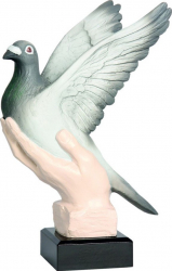 Trofeu Personalizat Columbofilie Porumbel 22 cm Cupe, trofee si medalii