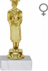 Trofeu Figurina Eleva Absolventa cu inaltime 15 cm