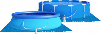 Covor de protectie universal pentru piscina din PVC dimensiune 3.96x3.96m albastru Piscine