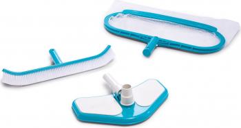 Set pentru curatare piscina Intex cu plasa cap aspirator si perie Piscine