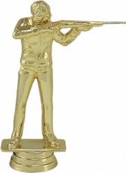 Trofeu Figurina Tir Sportiv plastic-marmura 16 cm Cupe, trofee si medalii