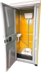 Toaleta cabina ecologica tip turcesc cu lavoar ICTET05P Portocaliu Toalete ecologice