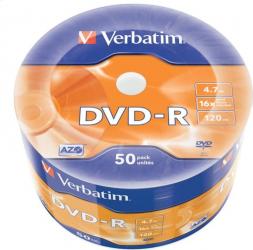 Verbatim - DVD-R 4.7Gb 16X Verbatim AZO set 50 buc VD1650S-N-SET50-DC