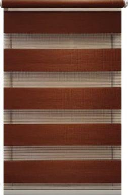 Jaluzea tip Rulou textil Rolete Zebra Day and Night Luxury 39x120 cm ZW13 culoare visiniu accesorii albe sau maro