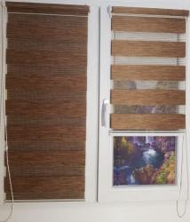 Jaluzea tip Rulou textil Rolete Zebra Day and Night Luxury 56x140 cm ZW8 accesorii albe