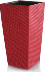 Ghiveci flori PREMIUM cu sistem de udare picurare 25x55cm culoare rosie