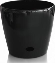 Ghiveci flori PREMIUM cu sistem de udare picurare 28x26cm culoare neagra Ghivece si suporturi