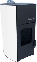 Termosemineu centrala pe peleti Fornello Fiamma Bianco 25 kw complet echipat pentru incalzire Termoseminee